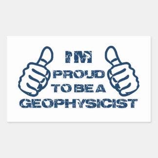 Diseño del geofísico pegatina rectangular