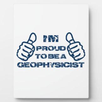 Diseño del geofísico placas con foto