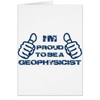 Diseño del geofísico tarjeta de felicitación