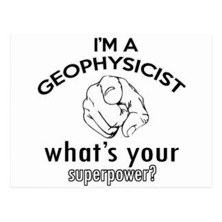 diseño del geofísico tarjetas postales