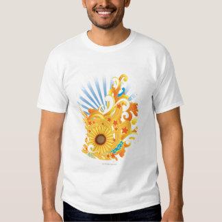 Diseño del girasol camisas
