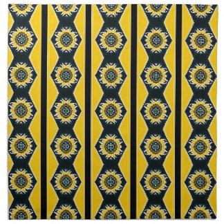 Diseño del girasol servilleta