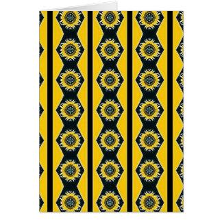 Diseño del girasol tarjeta de felicitación