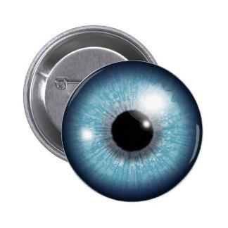 Diseño del globo del ojo pin redondo de 2 pulgadas