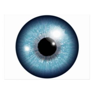 Diseño del globo del ojo postal