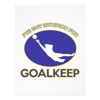 diseño del goalkeep membrete a diseño