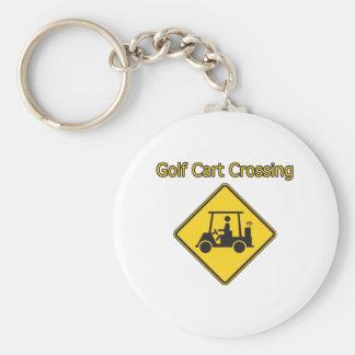 Diseño del golf de la travesía del carro de golf llaveros