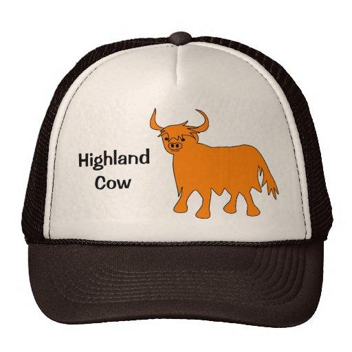 Diseño del gorra de la vaca de la montaña