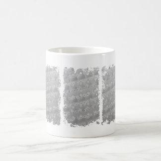 Diseño del Grunge de tres cajas Taza Básica Blanca