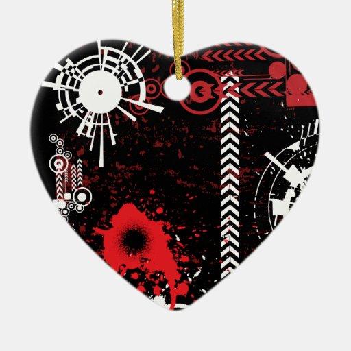 Diseño del Grunge Adorno De Cerámica En Forma De Corazón