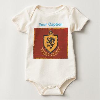 Diseño del Grunge del escudo de armas del escudo Body Para Bebé