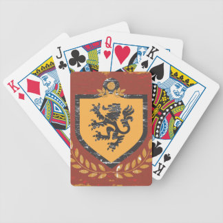Diseño del Grunge del escudo de armas del escudo d Barajas De Cartas