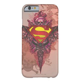 Diseño del Grunge del superhombre Funda De iPhone 6 Barely There