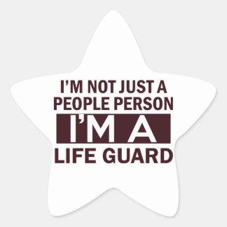 diseño del guardia de vida pegatina forma de estrella personalizada
