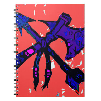 Diseño del hacha y de la flecha libretas