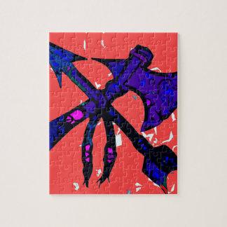 Diseño del hacha y de la flecha puzzle con fotos