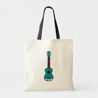 diseño del hibisco del ukulele del trullo bolsa