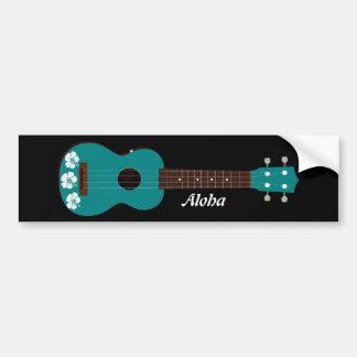 diseño del hibisco del ukulele del trullo pegatina para auto