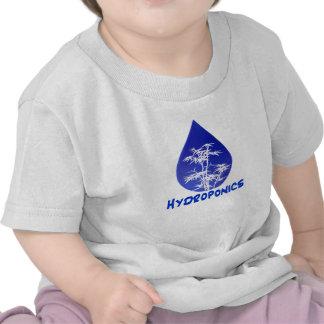 Diseño del hidrocultivo, descenso azul y árbol camisetas