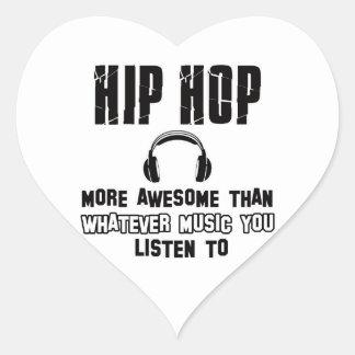 diseño del hip-hop calcomanía corazón personalizadas