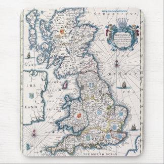 Diseño del Historia-amante del mapa de Gran Bretañ Alfombrilla De Ratones