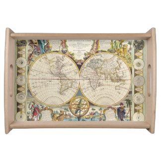 Diseño del Historia-amante del mapa de Viejo Mundo Bandejas