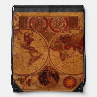 Diseño del Historia-amante del mapa de Viejo Mundo Mochila
