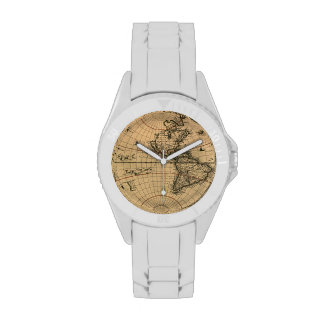 Diseño del Historia-amante del mapa de Viejo Mundo Relojes De Mano