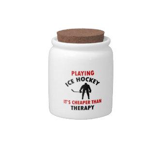 diseño del hockey sobre hielo jarra para caramelo