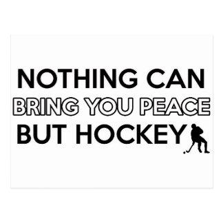 diseño del hockey postal