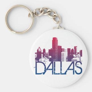 Diseño del horizonte de Dallas Llavero Redondo Tipo Pin