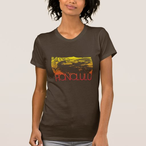 Diseño del horizonte de Honolulu Camisetas