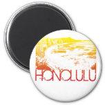 Diseño del horizonte de Honolulu Imanes