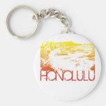 Diseño del horizonte de Honolulu Llavero