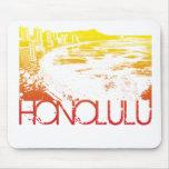 Diseño del horizonte de Honolulu Alfombrillas De Raton