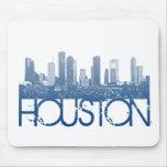 Diseño del horizonte de Houston Tapete De Ratones