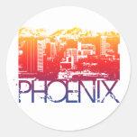 Diseño del horizonte de Phoenix Pegatinas Redondas