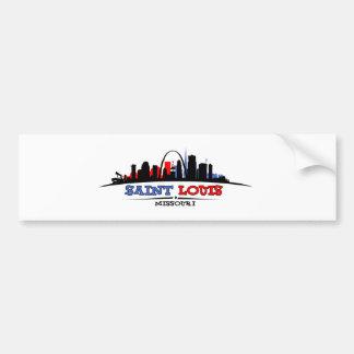 Diseño del horizonte de St. Louis Pegatina Para Auto