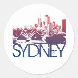 Diseño del horizonte de Sydney Etiquetas Redondas