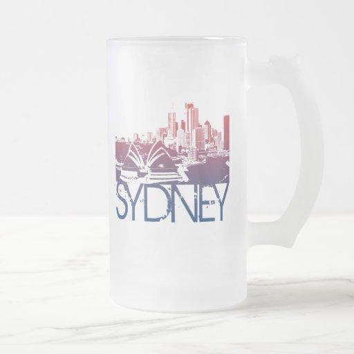 Diseño del horizonte de Sydney Taza De Cristal