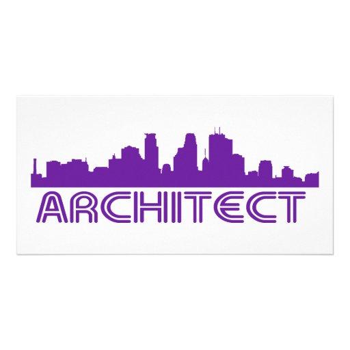 ¡Diseño del horizonte del arquitecto! Tarjetas Fotográficas Personalizadas