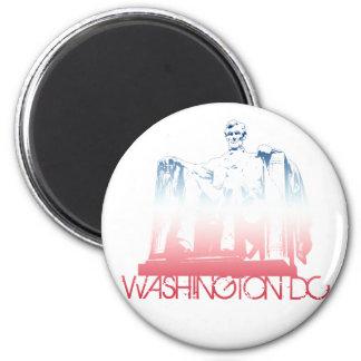 Diseño del horizonte del Washington DC Imán Redondo 5 Cm
