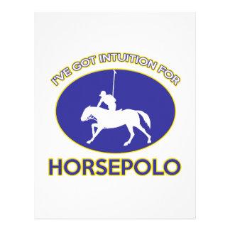 diseño del horsepolo plantilla de membrete