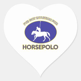 diseño del horsepolo pegatina en forma de corazón