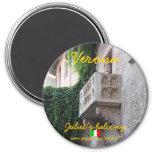 Diseño del imán del balcón de Verona Italia Juliet