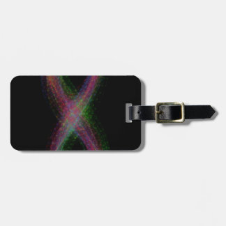 Diseño del infinito del arco iris etiquetas de maletas