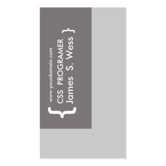 Diseño del informático del CSS Tarjetas De Visita