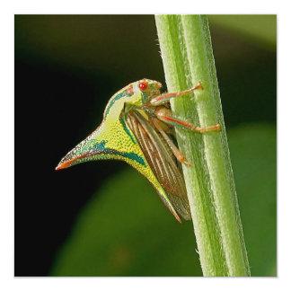 """Diseño del insecto de la espina invitación 5.25"""" x 5.25"""""""