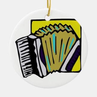 Diseño del instrumento musical del gráfico #3 de adorno redondo de cerámica
