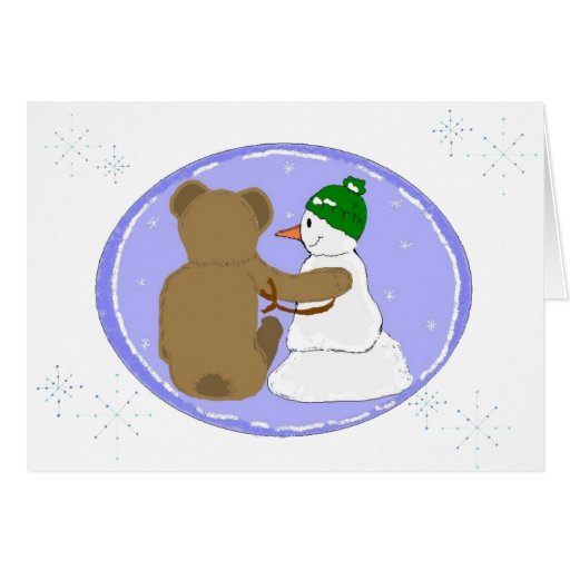 Diseño del invierno de la amistad tarjeta de felicitación